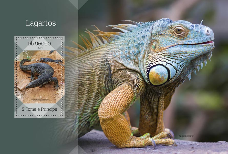 Lizards - Issue of Sao Tome and Principe postage stamps