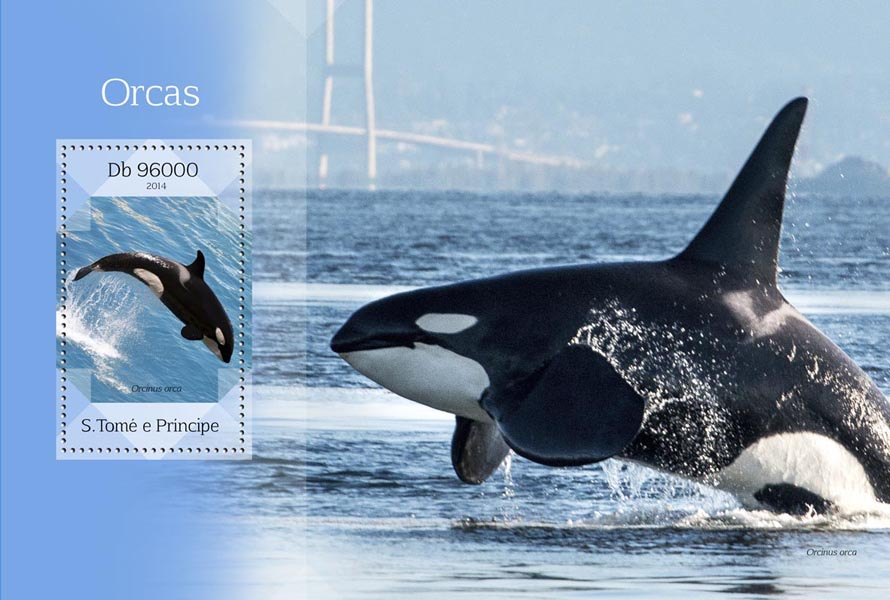 Orcas - Issue of Sao Tome and Principe postage stamps