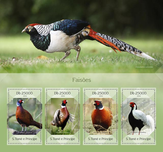 Pheasants - Issue of Sao Tome and Principe postage stamps
