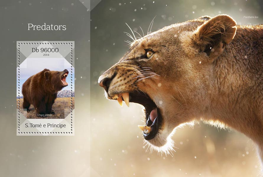 Predators - Issue of Sao Tome and Principe postage stamps