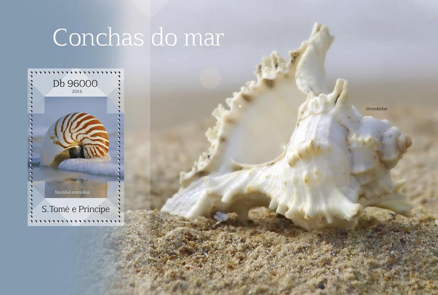 Seashells - Issue of Sao Tome and Principe postage stamps