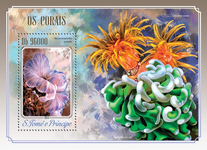 Corals - Issue of Sao Tome and Principe postage stamps