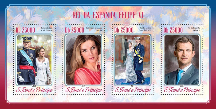 Felipe VI - Issue of Sao Tome and Principe postage stamps