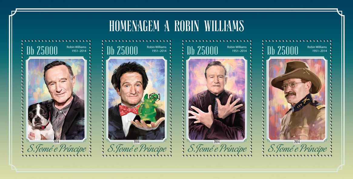 Robin Williams - Issue of Sao Tome and Principe postage stamps