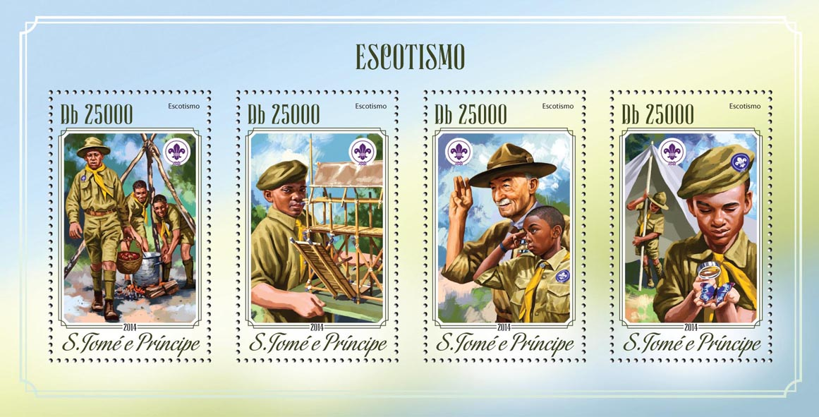 Scouting - Issue of Sao Tome and Principe postage stamps