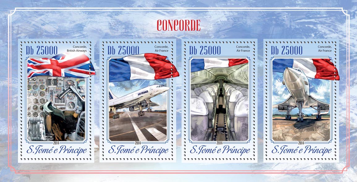 Concorde - Issue of Sao Tome and Principe postage stamps