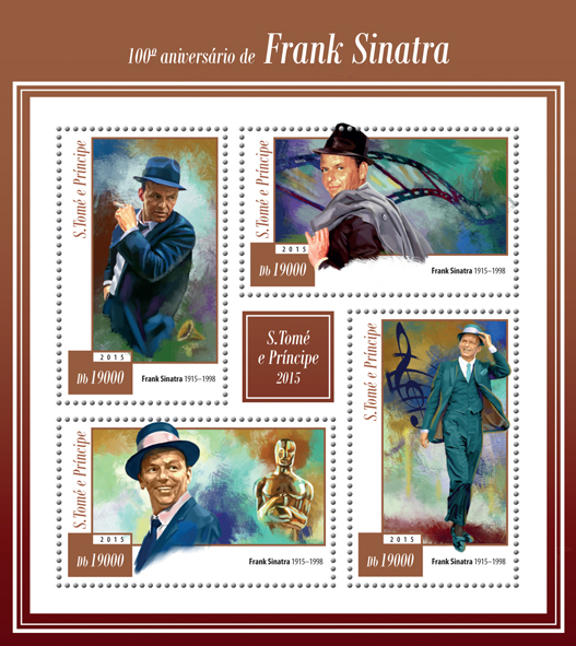 100th anniversary of Frank Sinatra - Issue of Sao Tome and Principe postage stamps