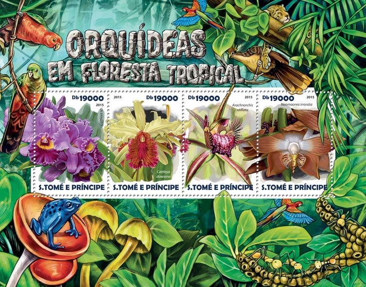 Orchids - Issue of Sao Tome and Principe postage stamps