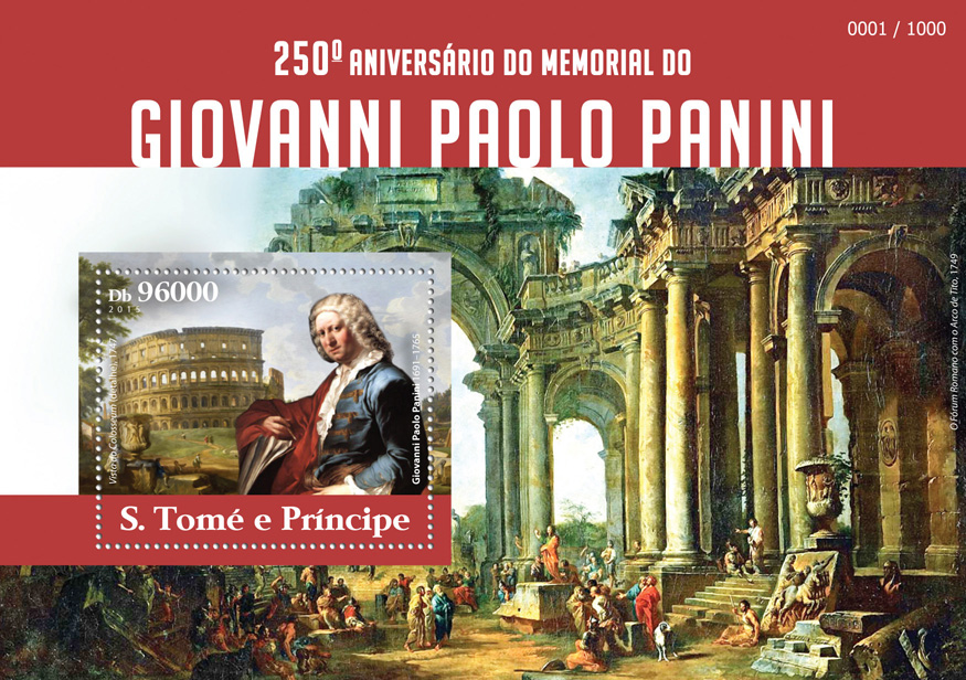 Giovani Paolo Panini  - Issue of Sao Tome and Principe postage stamps