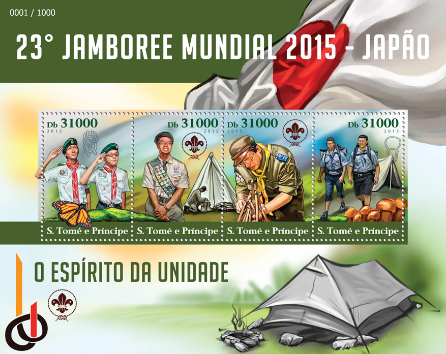 Scout - Issue of Sao Tome and Principe postage stamps