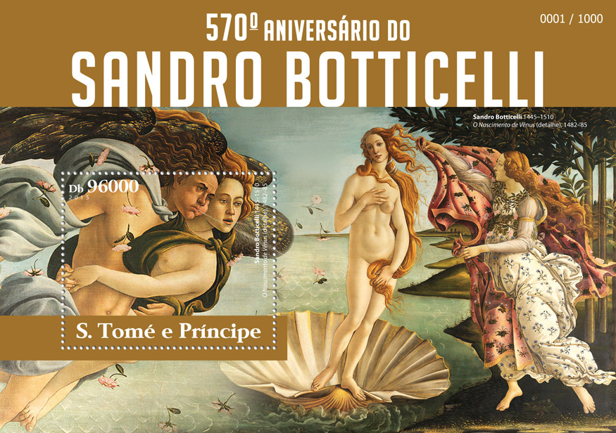 Sandro Botticelli  - Issue of Sao Tome and Principe postage stamps