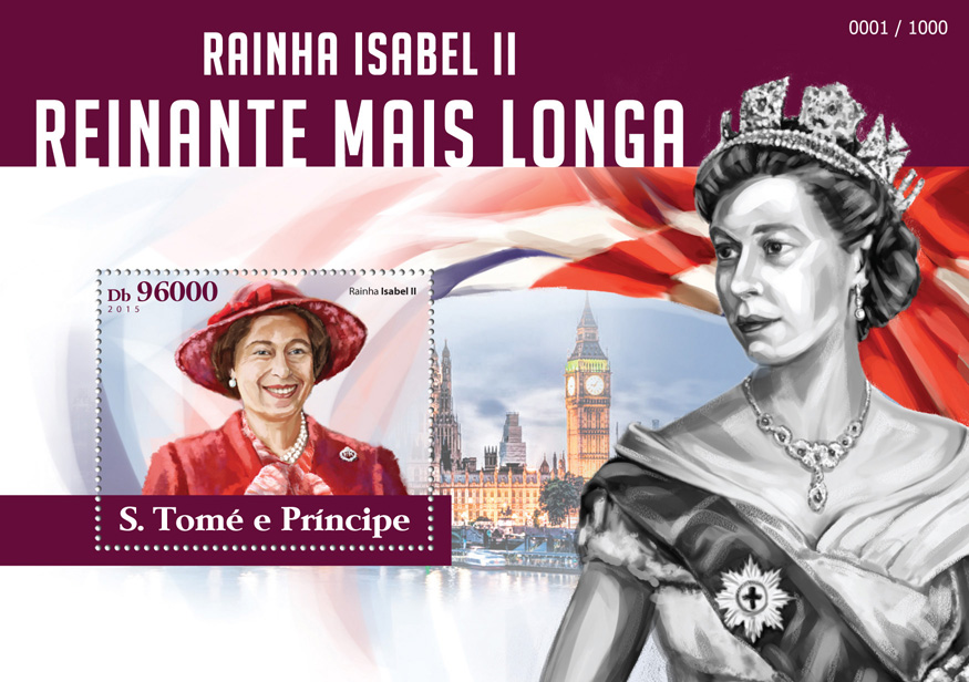 Elizabeth II - Issue of Sao Tome and Principe postage stamps