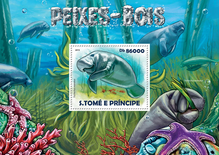 Manatees - Issue of Sao Tome and Principe postage stamps