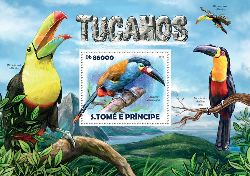 Toucans - Issue of Sao Tome and Principe postage stamps