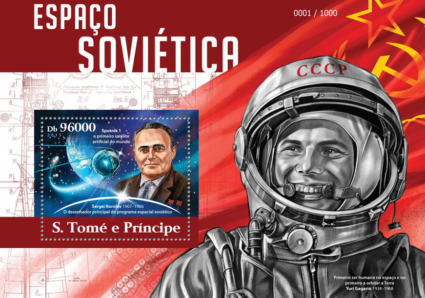 Soviet space - Issue of Sao Tome and Principe postage stamps