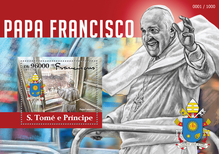 Pope Francis - Issue of Sao Tome and Principe postage stamps