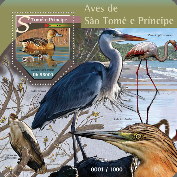 Birds - Issue of Sao Tome and Principe postage stamps
