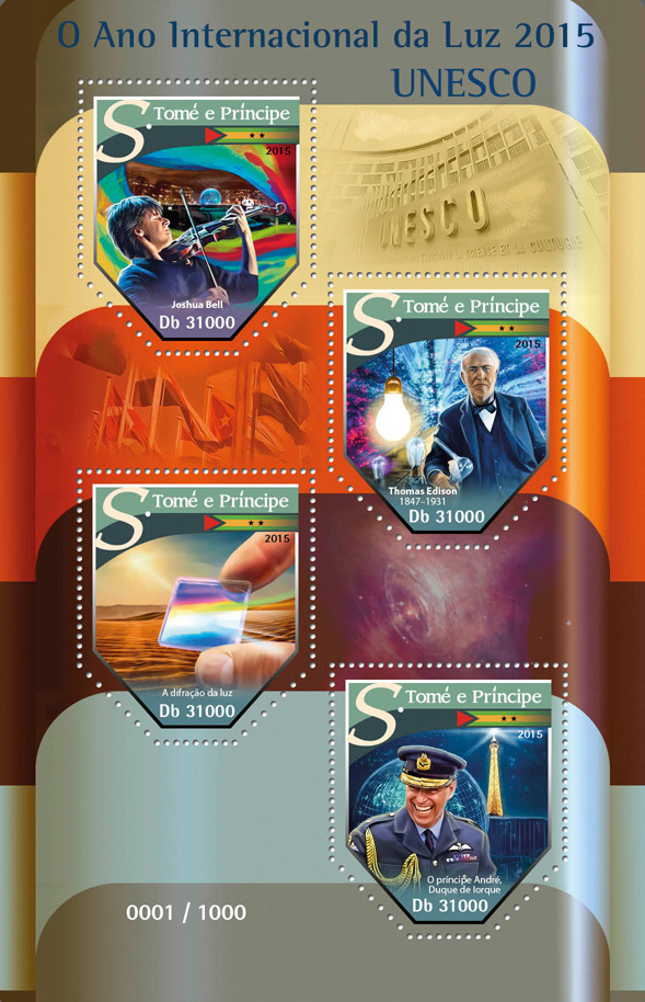 International Year of Light - Issue of Sao Tome and Principe postage stamps