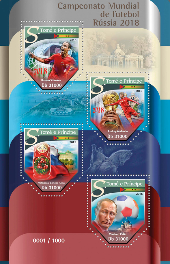 Football - Issue of Sao Tome and Principe postage stamps