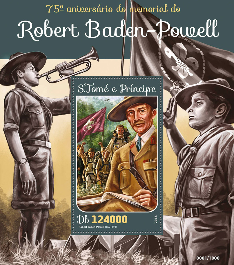 Robert Baden-Powell - Issue of Sao Tome and Principe postage stamps