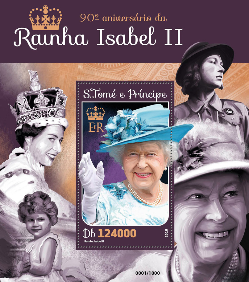 Queen Elizabeth II - Issue of Sao Tome and Principe postage stamps