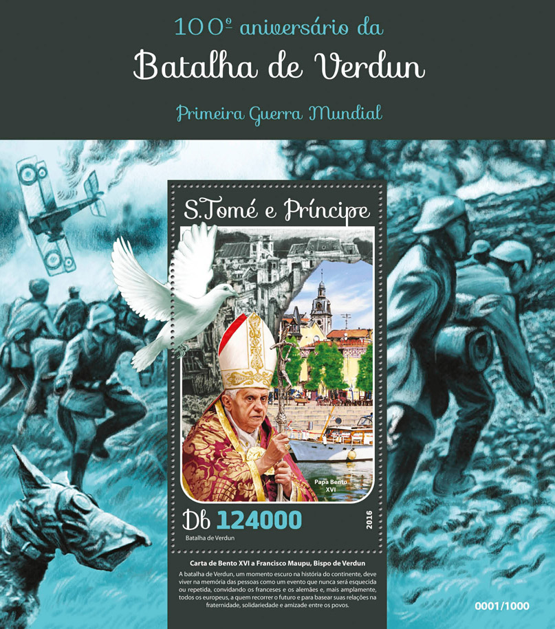 Battle of Verdun - Issue of Sao Tome and Principe postage stamps