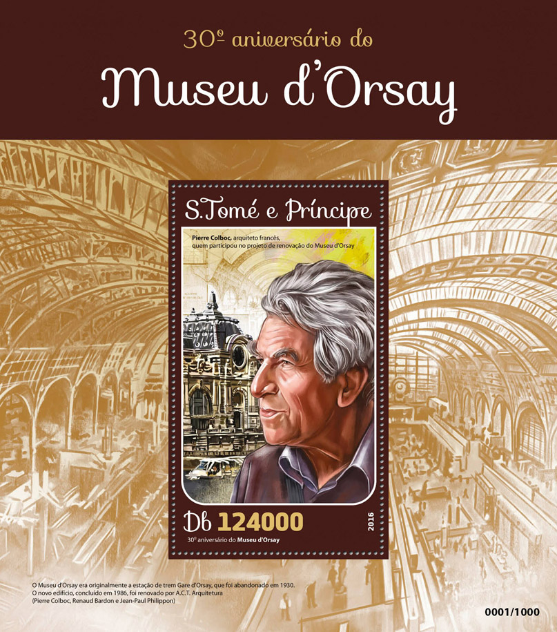 Musee d'Orsay - Issue of Sao Tome and Principe postage stamps