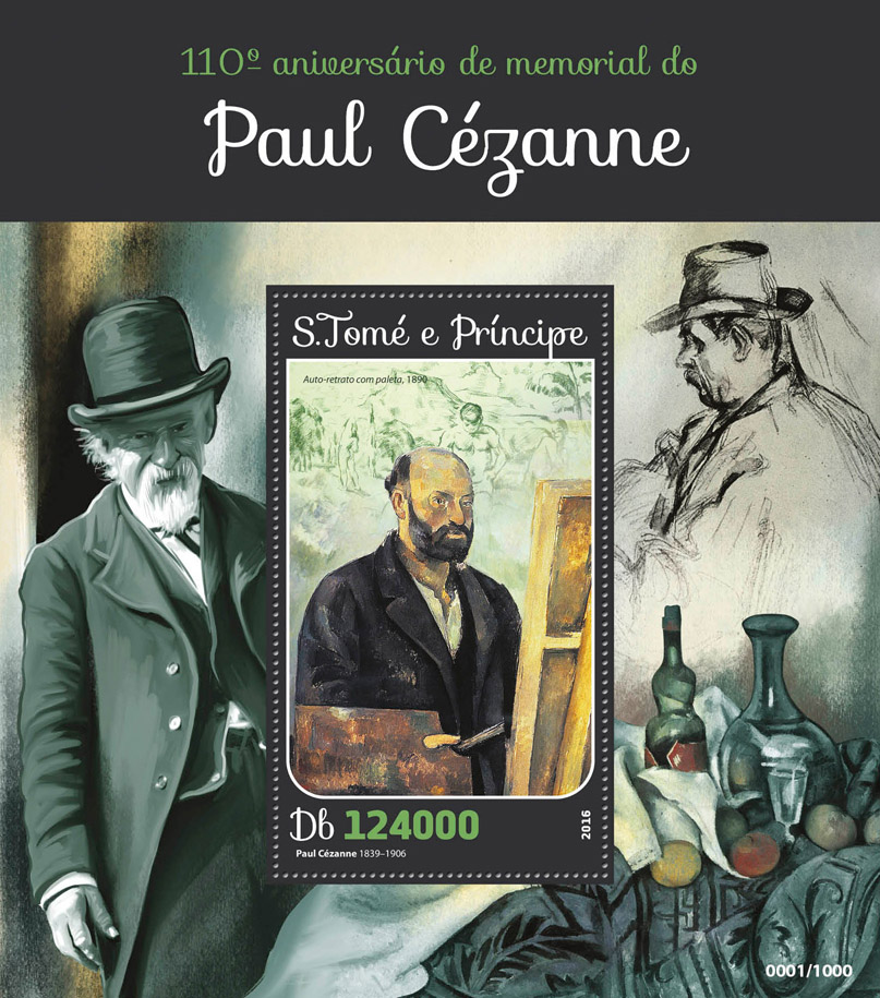 Paul Cezanne - Issue of Sao Tome and Principe postage stamps
