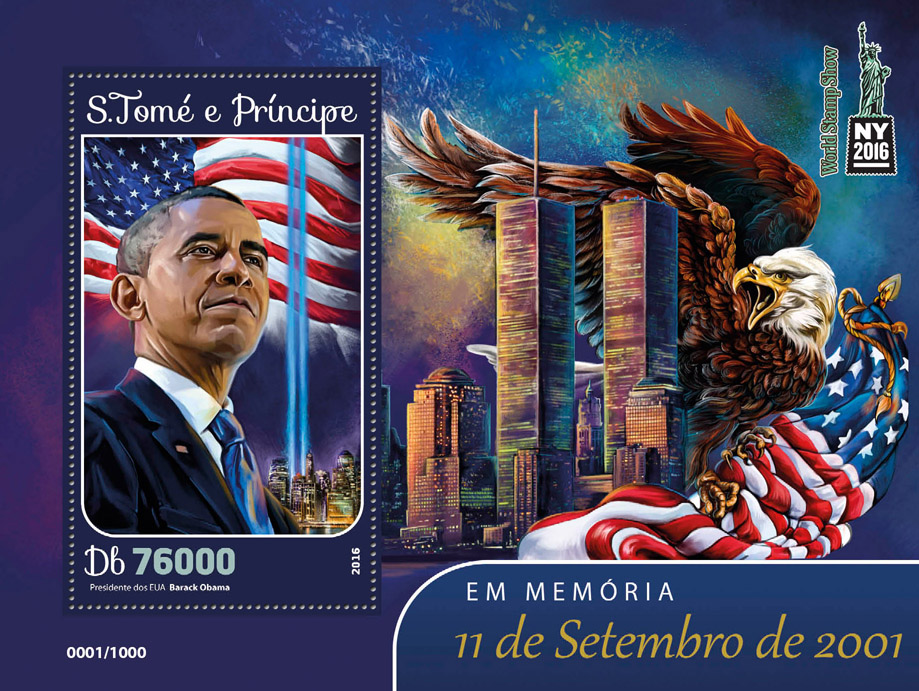 2001 September 11 - Issue of Sao Tome and Principe postage stamps