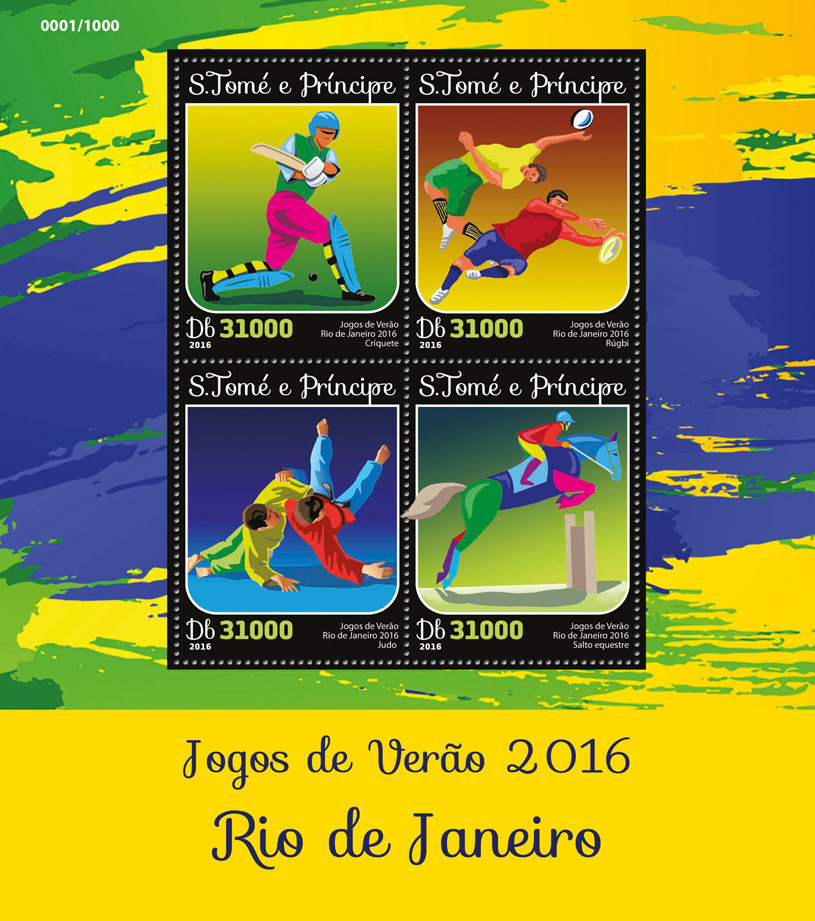 Summer games 2016 - Issue of Sao Tome and Principe postage stamps