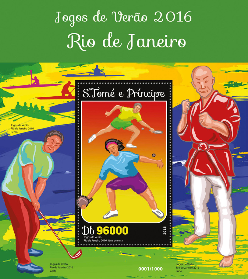Summer games 2019 - Issue of Sao Tome and Principe postage stamps