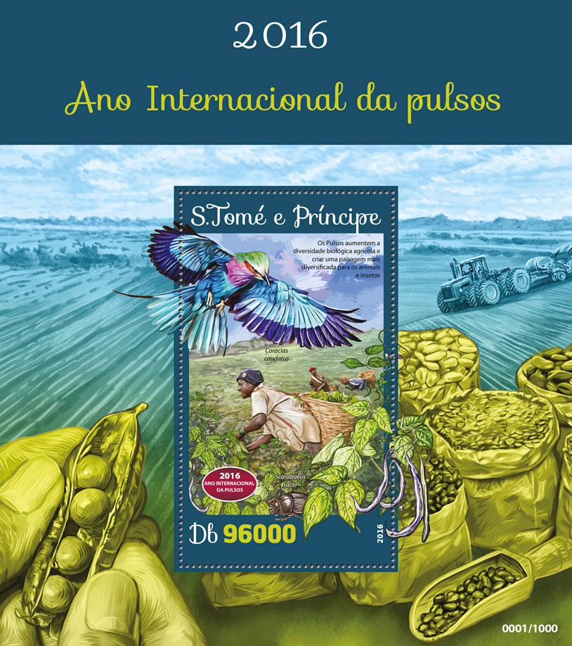 Year of Pulses - Issue of Sao Tome and Principe postage stamps