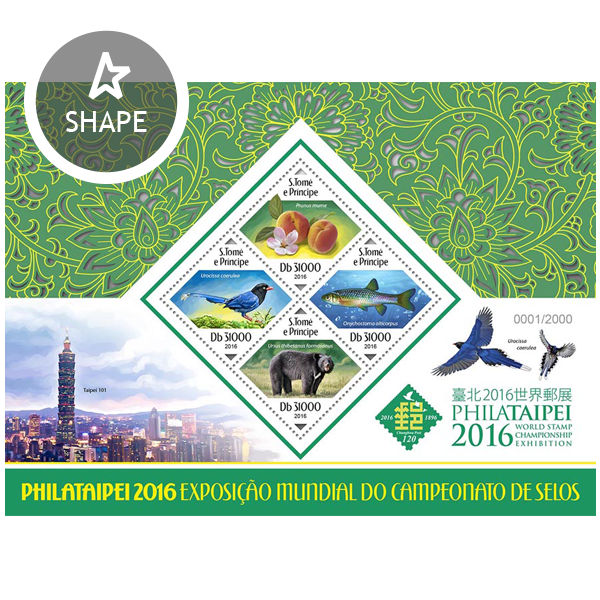 PHILATAIPEI 2016 - Issue of Sao Tome and Principe postage stamps