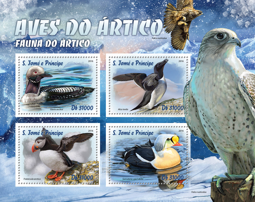 Arctic birds - Issue of Sao Tome and Principe postage stamps