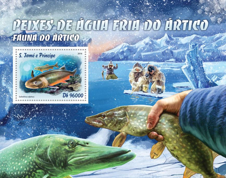 Arctic fish - Issue of Sao Tome and Principe postage stamps