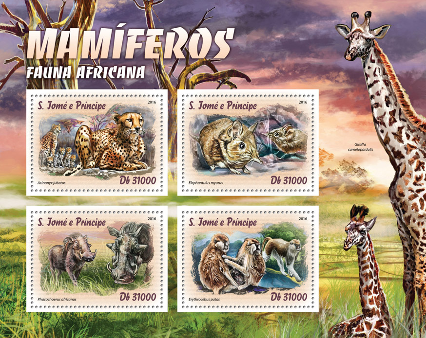 Mammals - Issue of Sao Tome and Principe postage stamps