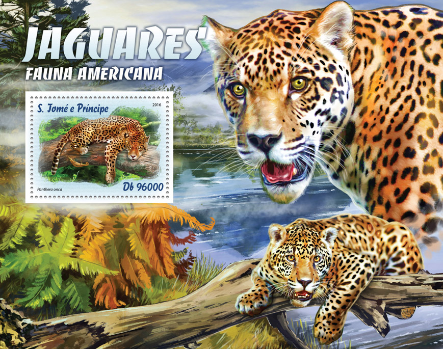 Jaguars - Issue of Sao Tome and Principe postage stamps