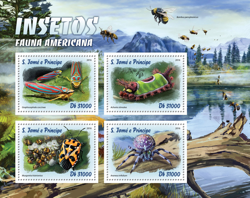Insects - Issue of Sao Tome and Principe postage stamps