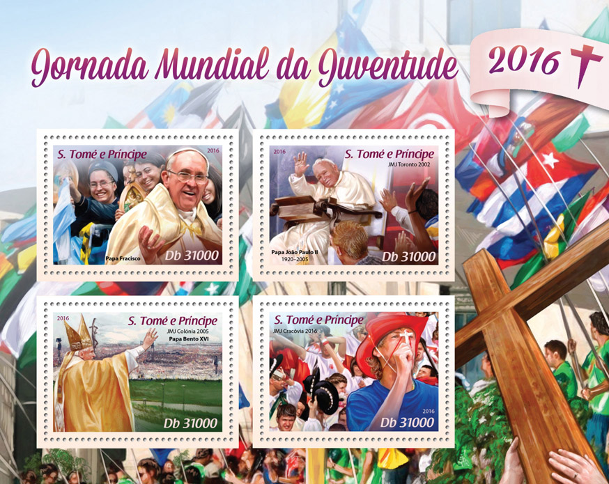 World Youth Day - Issue of Sao Tome and Principe postage stamps