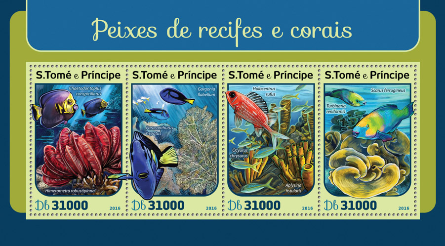 Corals and reef fishes - Issue of Sao Tome and Principe postage stamps