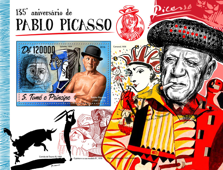 Pablo Picasso - Issue of Sao Tome and Principe postage stamps