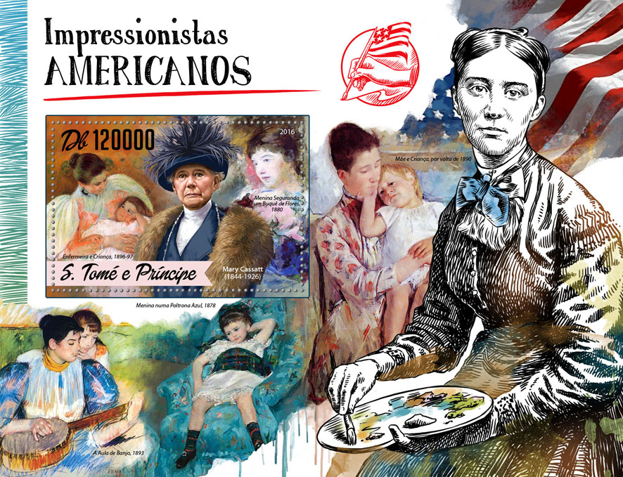 American Impressionists - Issue of Sao Tome and Principe postage stamps