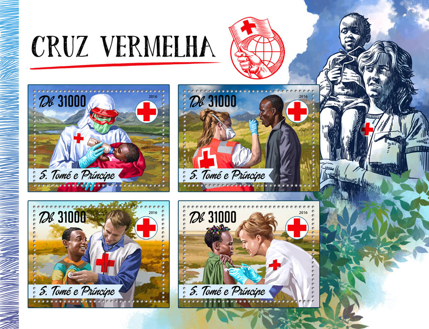 Red Cross - Issue of Sao Tome and Principe postage stamps