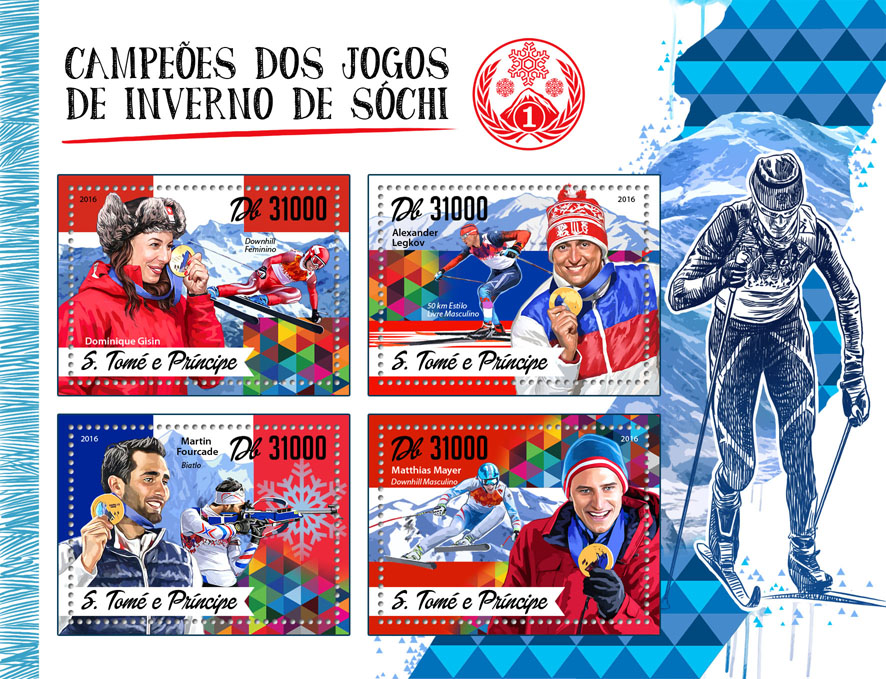 Sochi Winter Games - Issue of Sao Tome and Principe postage stamps