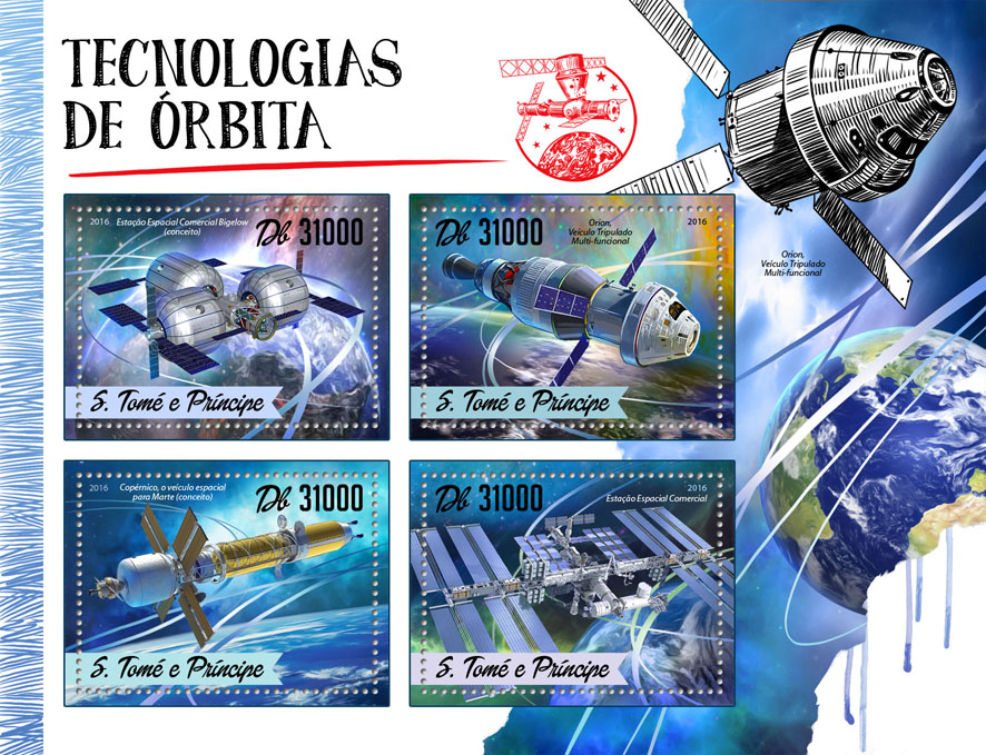 Orbital techniques - Issue of Sao Tome and Principe postage stamps
