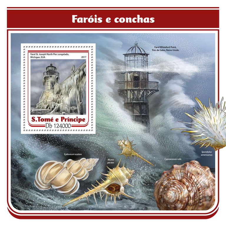 Lighthouses and shells - Issue of Sao Tome and Principe postage stamps