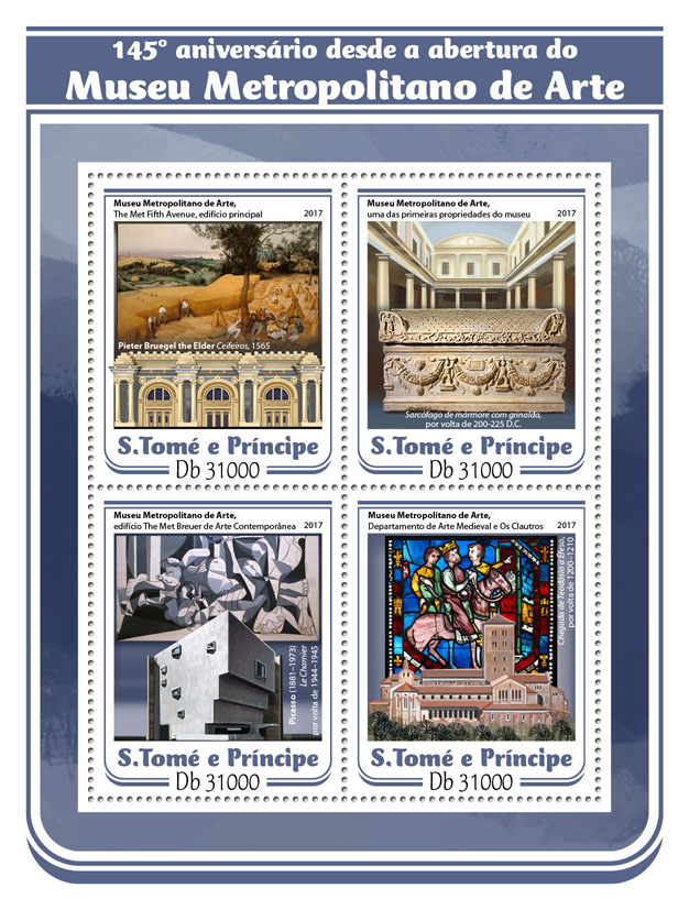 Metropolitan Museum - Issue of Sao Tome and Principe postage stamps
