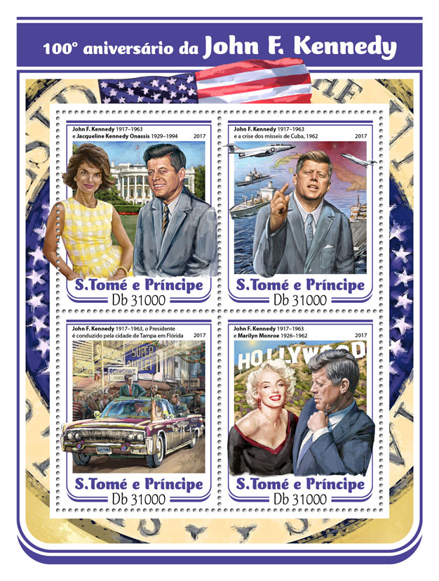 John F. Kennedy - Issue of Sao Tome and Principe postage stamps