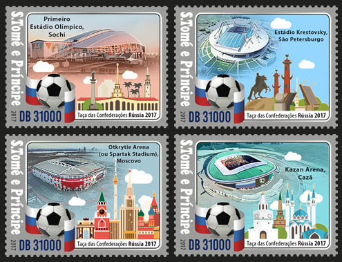 Confederations Cup - Issue of Sao Tome and Principe postage stamps