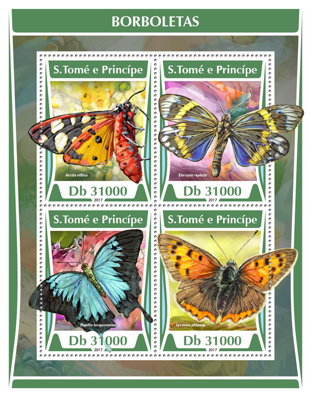 Butterflies - Issue of Sao Tome and Principe postage stamps